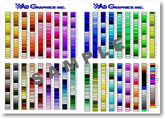 Adgraphics  Color Chart
